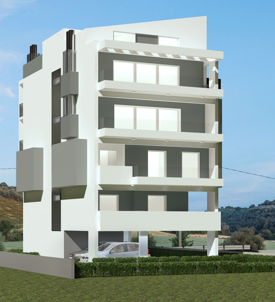 Glyfada construction of a new four storey residential building with a basement ground floor residences with a swimming pool and terrace apartment in